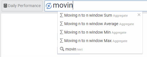 Moving Window Average