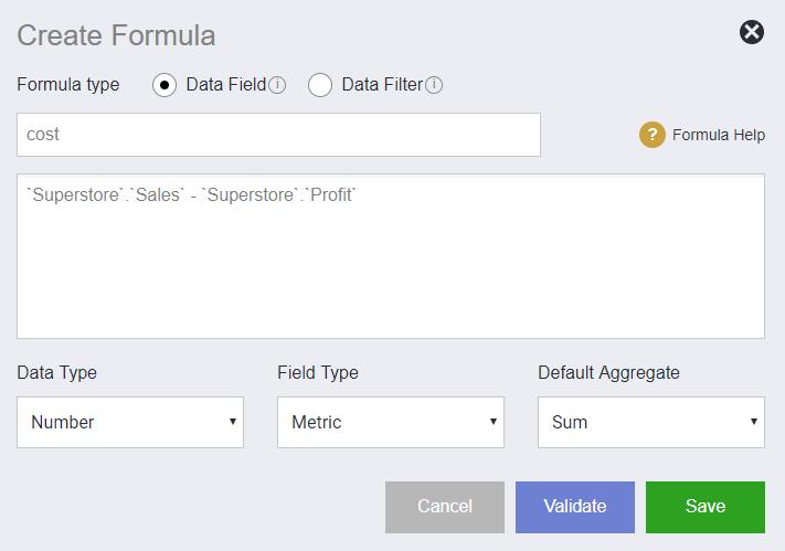 field formula