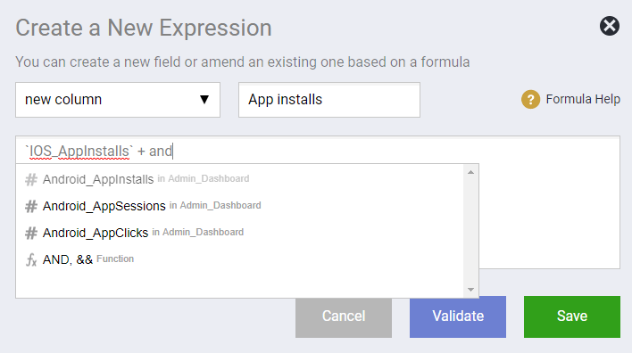 New Expression New Field